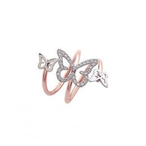 Anello Butterfly Spring Double Round