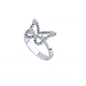 anello butterfly sapphire